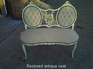 Restored antique seat